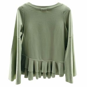 Altar'd State 'Helena' Ruffle Bell Sleeve Pullover